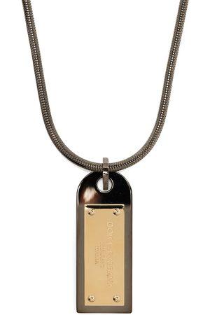 Dolce & Gabbana Mænd Halskæder - Logo-plaque drop necklace