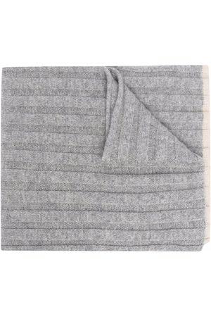 Brunello Cucinelli Mænd Strik - Ribbed-knit cashmere scarf