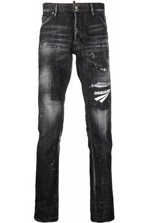 Dsquared2 Jeans med slitageeffekt og logomærke