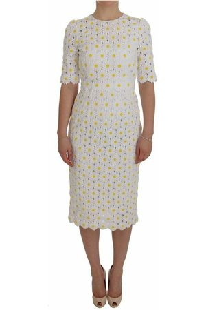 Dolce & Gabbana Kvinder Bodycon kjoler - Sunflower Ricamo Sheath Dress