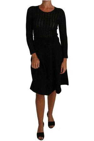 Dolce & Gabbana Knitted Wool Sheath Long Sleeves Dress