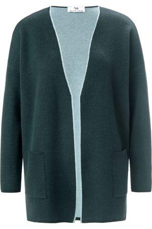 Peter Hahn Cardigan i 100% ren ny uld Fra grøn