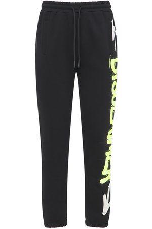 DISCLAIMER Mænd Joggingbukser - Neon Logo Printed Cotton Sweatpants