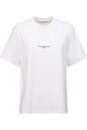 Stella McCartney Kvinder Kortærmede - Logo Organic Cotton Jersey T-shirt