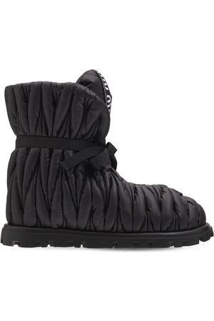 Miu Miu Kvinder Ankelstøvler - 20mm Matelasse' Patent Nylon Ankle Boots