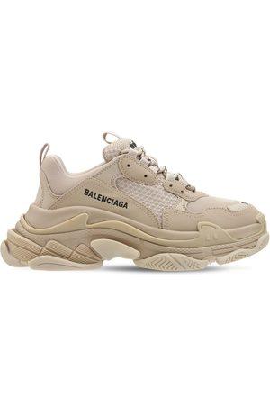 Balenciaga Kvinder Sneakers - 60mm Triple S Faux Leather Sneakers