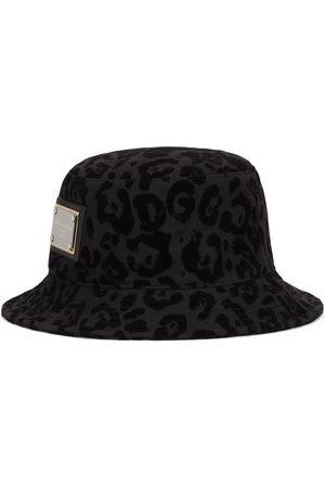 Dolce & Gabbana Mænd Hatte - Bøllehat med leopardtryk