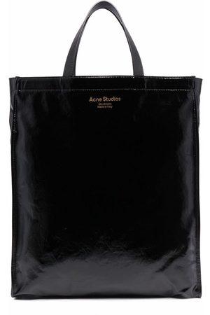 Acne Studios Stofposer - High-shine tote bag