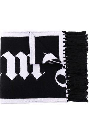 Palm Angels Mænd Tørklæder - MACRO LOGO SCARF BLACK WHITE