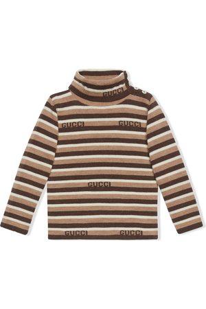 Gucci Baby Strik - Stribet trøje med rullekrave
