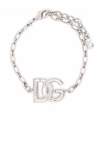 Dolce & Gabbana Mænd Armbånd - Kæde-armbånd med logoplade
