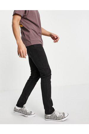 Weekday Friday sorte jeans i smal pasform fra