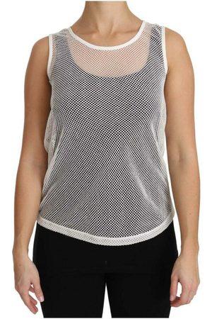 Dolce & Gabbana Kvinder Tanktoppe - Net Transparent Sleeveless Tank Top