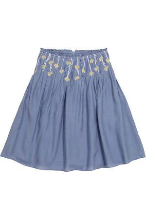 Chloé Floral silk-blend skirt