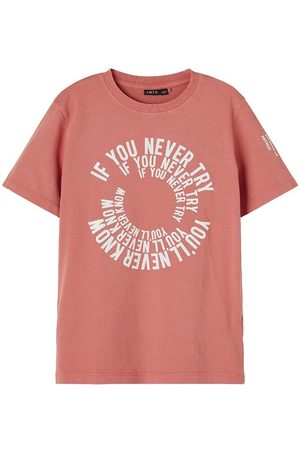 LMTD Kortærmede - T-shirt - NlmFilal - Apricot Brandy m. Tekst