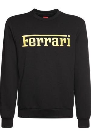FERRARI Logo Print Recycled Jersey Sweatshirt