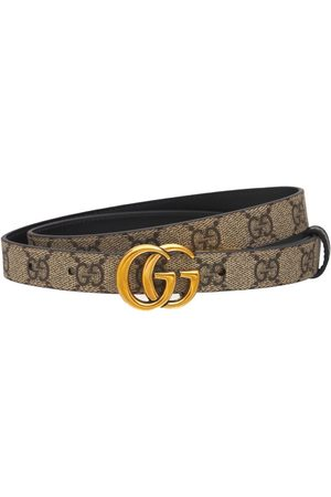 Gucci Gg Marmont Reversible Thin Leather Belt