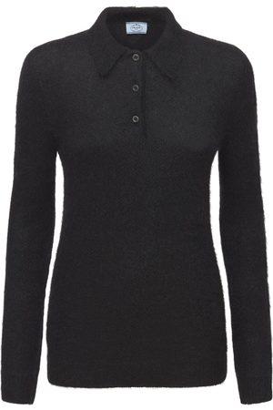 Prada Mohair Blend Knit Polo Neck Sweater