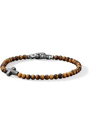 David Yurman Mænd Armbånd - Cross station bead bracelet