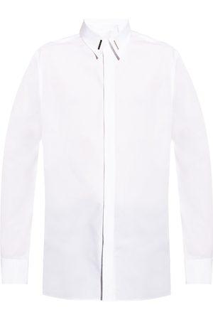 Givenchy Mænd Langærmede skjorter - Logo-appliquéd shirt
