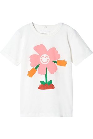 Stella McCartney T-shirt - Hello Flower - Off White m. Prin