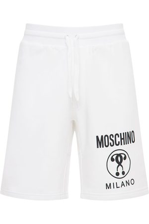 Moschino Logo Cotton Jersey Shorts