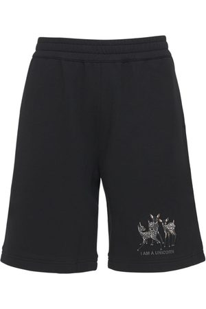 Burberry Mænd Shorts - Printed Cotton Jersey Sweat Shorts