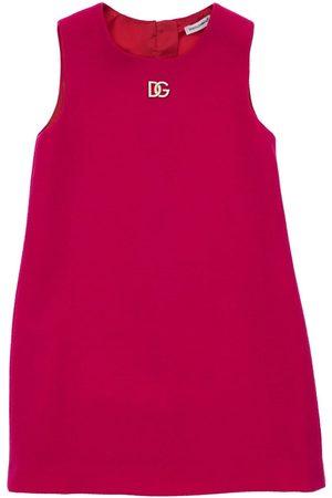 Dolce & Gabbana Logo Sleeveless Wool Dress