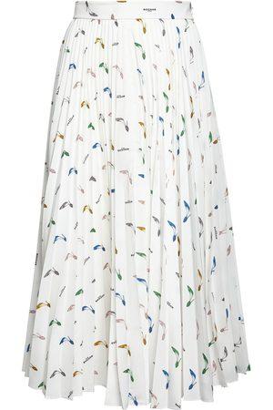 ROCHAS Printed Crepe De Chine Pleated Midiskirt