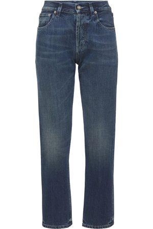 Saint Laurent Soft Cotton Straight Leg Jeans