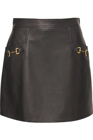 Gucci Shiny Leather Skirt