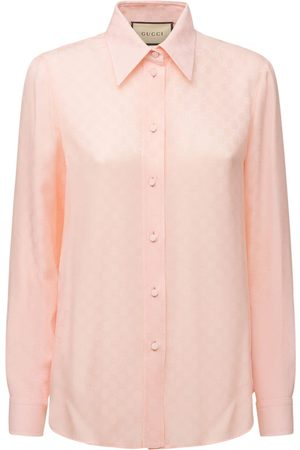 Gucci Gg Jacquard Silk Crepe Shirt