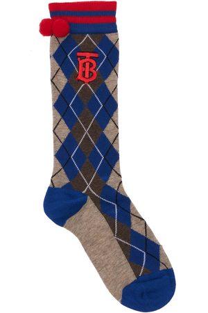 BURBERRY Cotton Blend Knit Socks