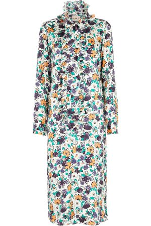 Plan C Kvinder Midikjoler - Floral midi dress