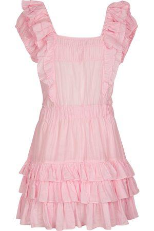 LOVESHACKFANCY Ivoire cotton and silk minidress