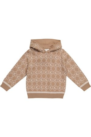 Chloé Intarsia-knit cotton and wool hoodie