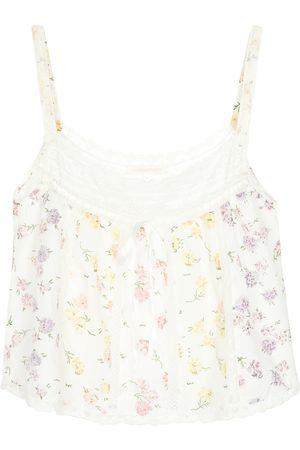 LOVESHACKFANCY Aston cotton camisole