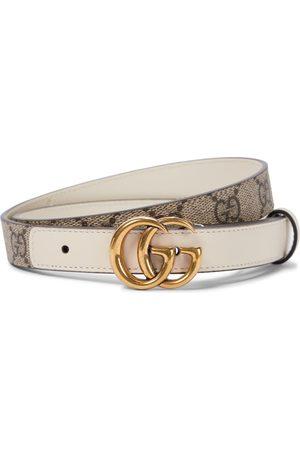 Gucci Kvinder Bælter - GG Supreme leather belt in