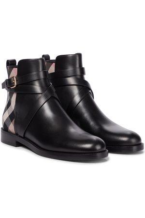Burberry Kvinder Ankelstøvler - Archive Check leather ankle boots