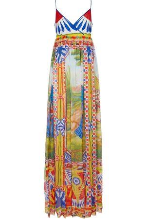 Dolce & Gabbana Printed silk chiffon maxi dress