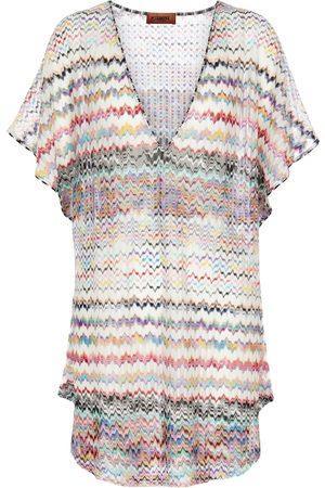Missoni Zig-zag knit V-neck kaftan
