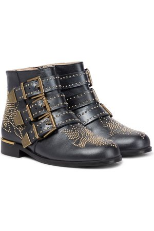 Chloé Embellished leather ankle boots