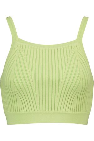 LIVE THE PROCESS Ribbed-knit crop top