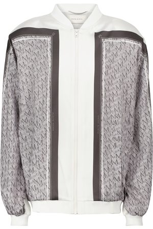 MAGDA BUTRYM Printed stretch-silk satin bomber jacket