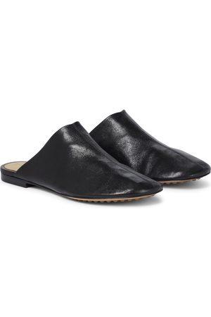 Bottega Veneta Kvinder Tøffler - Dot Sock leather slippers
