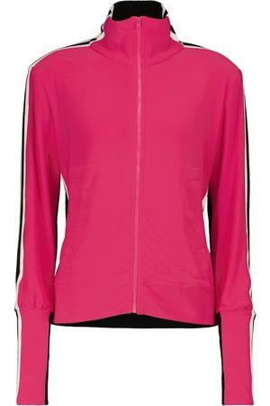 Norma Kamali Stretch-jersey track jacket