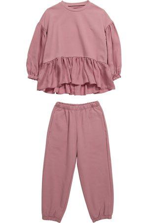 Il gufo Stretch-cotton sweatshirt and sweatpants set