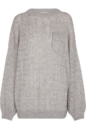 Brunello Cucinelli Cable-knit mohair-blend sweater