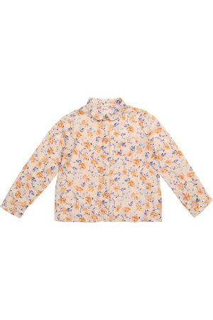 BONPOINT Pea floral cotton twill shirt