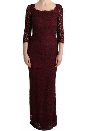 Dolce & Gabbana Floral Ricamo Sheath Long Dress